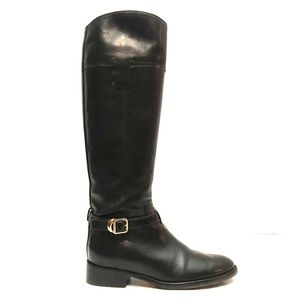 Tory Burch Tall Brown Leather Riding Boots 5.5